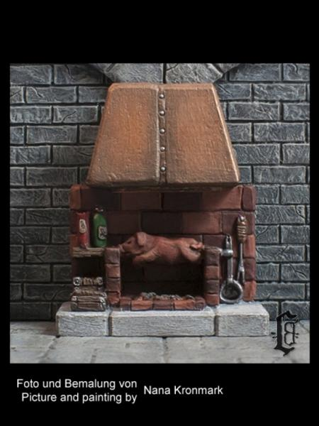 Terrain Accessories: Cooking Area, Fireplace with Suckling Pig