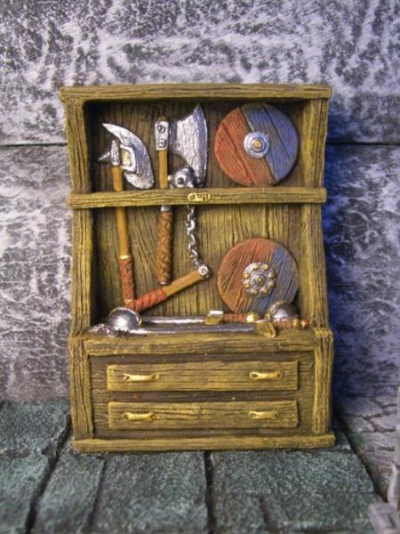 Terrain Accessories:  Weapons Cabinet (1)