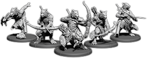 Darklands: Sigewulf's Pack, Werwulf Hunter Unit (5x warriors w/cmd) (resin)