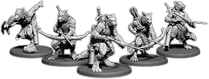 Darklands: Sigewulf's Pack, Werwulf Hunter Unit (5x warriors) (resin)