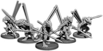Darklands: Gukk's Javelins, Sávrakontar Unit (5x warriors) (resin)