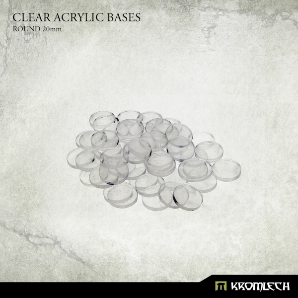 Accessories: Clear Plexi Bases Round 20mm (50)