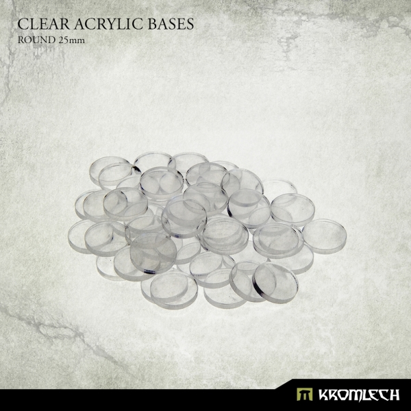 Accessories: Clear Plexi Bases Round 25mm (50)