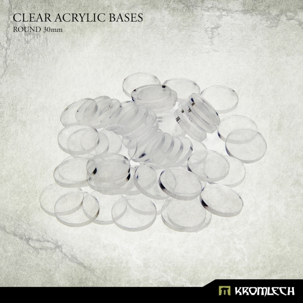 Accessories: Clear Plexi Bases Round 30mm (40)