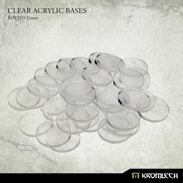 Accessories: Clear Plexi Bases Round 32mm (40)