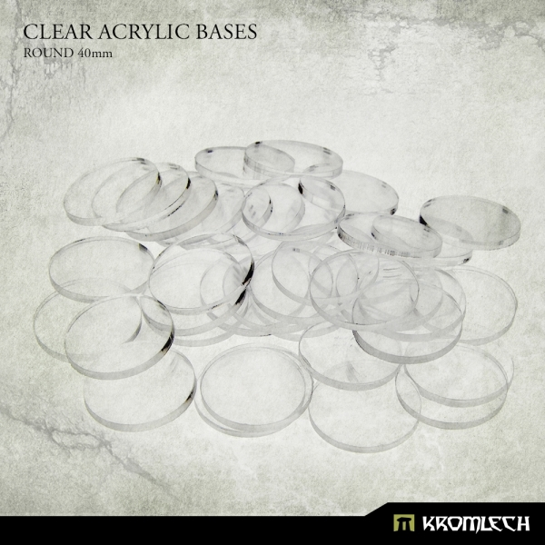 Accessories: Clear Plexi Bases Round 40mm (25)