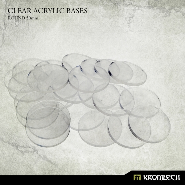 Accessories: Clear Plexi Bases Round 50mm (15)
