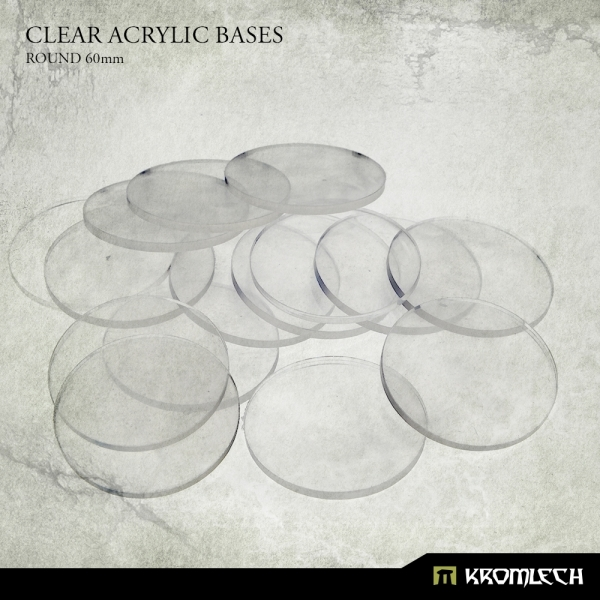 Accessories: Clear Plexi Bases Round 60mm (15)