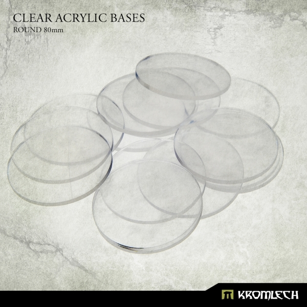 Accessories: Clear Plexi Bases Round 80mm (10)