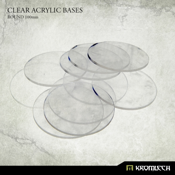 Accessories: Clear Plexi Bases Round 100mm (5)