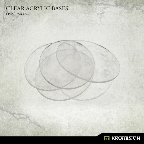 Accessories: Clear Plexi Bases Oval 75x42mm (15)