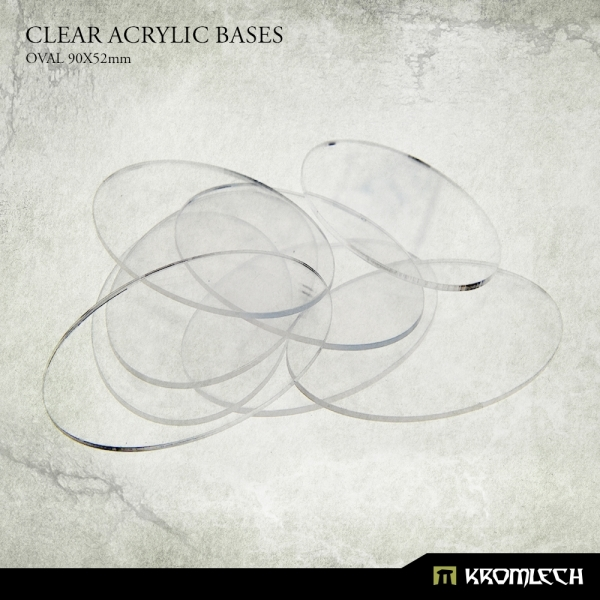 Accessories: Clear Plexi Bases Oval 90x52mm (10)