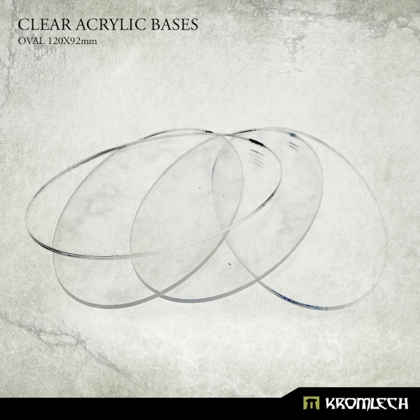 Accessories: Clear Plexi Bases Oval 120x92mm (5)