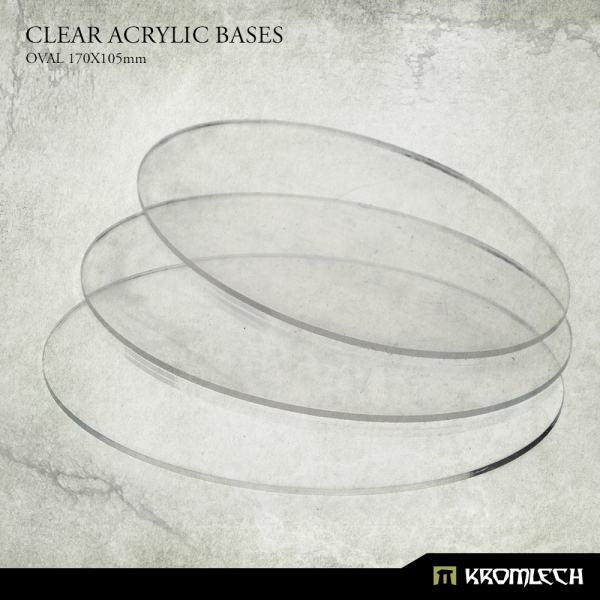 Accessories: Clear Plexi Bases Oval 170x105mm (3)
