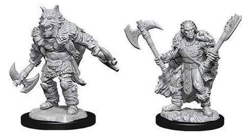 D&D Nolzurs Marvelous Unpainted Minis: Male Half-Orc Barbarian (2)