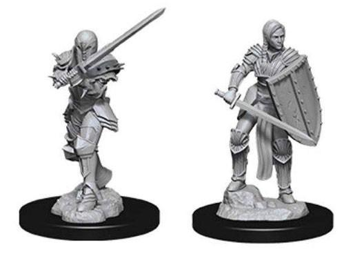 D&D Nolzurs Marvelous Unpainted Minis: Female Human Fighter (2)