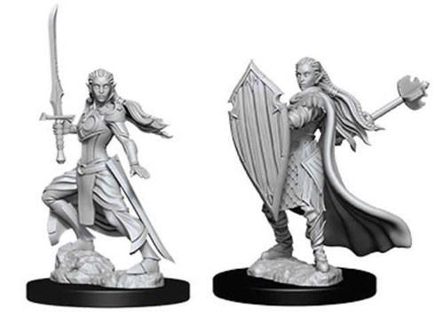 D&D Nolzurs Marvelous Unpainted Minis: Female Elf Paladin (2)