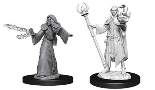 D&D Nolzurs Marvelous Unpainted Minis: Male Elf Wizard (2)