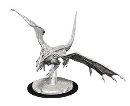 D&D Nolzurs Marvelous Unpainted Minis: Young White Dragon