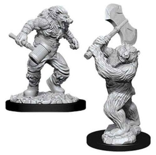 D&D Nolzurs Marvelous Unpainted Minis: Wereboar & Werebear (2)