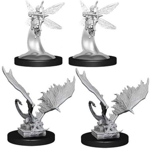 D&D Nolzurs Marvelous Unpainted Minis: Sprites & Pseudodragons (4)