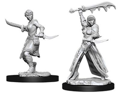 D&D Nolzurs Marvelous Unpainted Minis: Female Human Rogue (2)