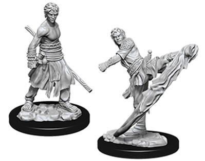 D&D Nolzurs Marvelous Unpainted Minis: Male Half-Elf Monk (2)