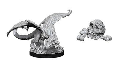 D&D Nolzurs Marvelous Unpainted Minis: Black Dragon Wyrmling w/Bone Pile (2)