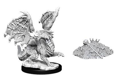 D&D Nolzurs Marvelous Unpainted Minis: Red Dragon Wyrmling w/Treasure Pile (2)