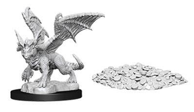 D&D Nolzurs Marvelous Unpainted Minis: Blue Dragon Wyrmling w/Treasure Pile (2)