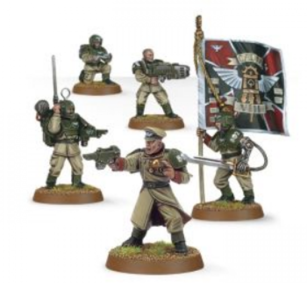 Warhammer 40K: Astra Militarum Cadian Command Squad (2019)