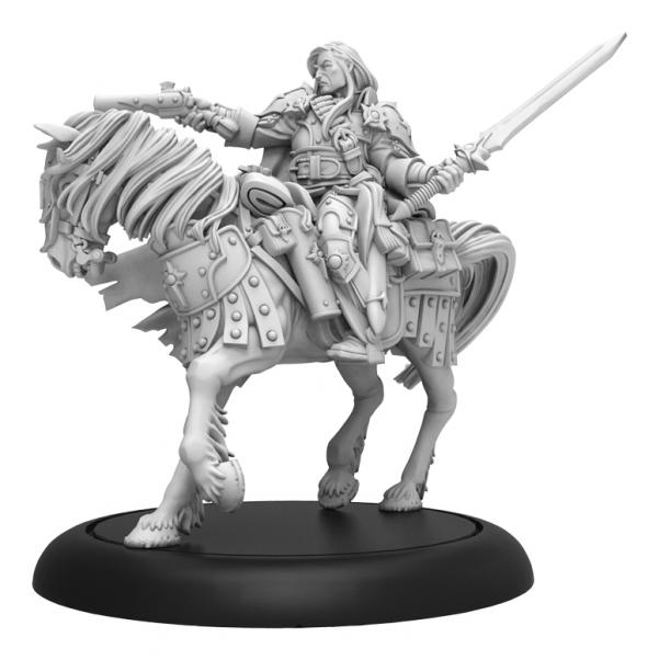 Warmachine: Grand Master Gabriel Throne – Mercenary Morrowan Solo (metal/resin)