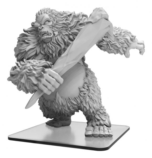 Monsterpocalypse: White Dajan - Empire of the Apes Monster (resin)