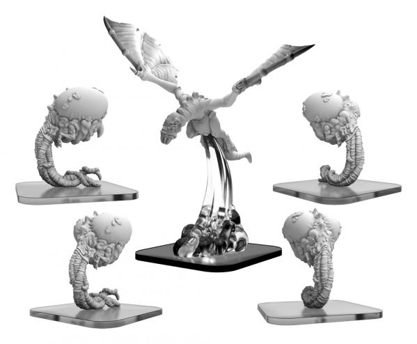 Monsterpocalypse: Snatchers, Elite Snatcher, Hellion - Lords of Cthul Units (metal)