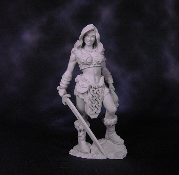Bombshell Miniatures: Tara the Sword Mistress (75mm Scale)