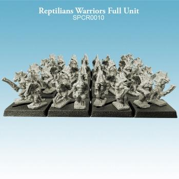 Argatoria 10mm scale Reptilians - Warriors Full Unit