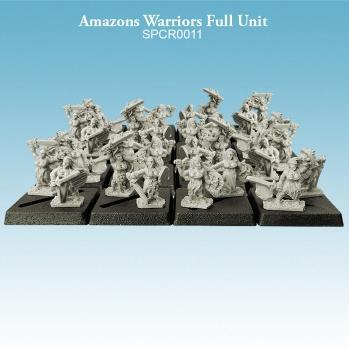 10mm scale Amazons - Warriors Full Unit