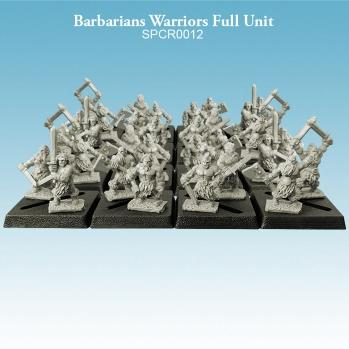 10mm scale Barbarians - Warriors Full Unit