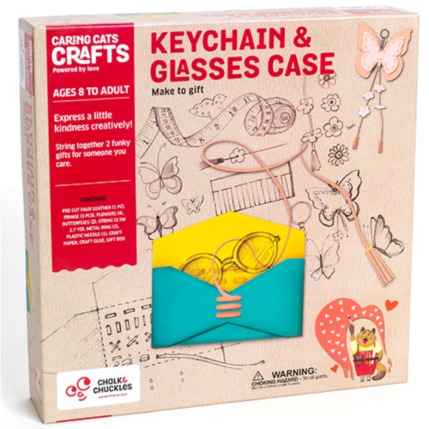 Keychain and Glasses Case Crafting Kit