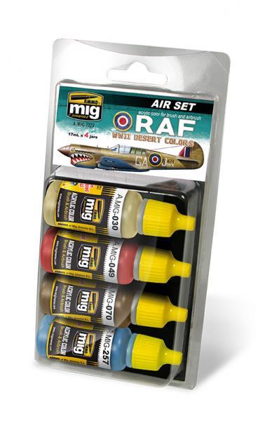 AMMO: Acrylic Paint Set -  RAF WWII Desert Colors