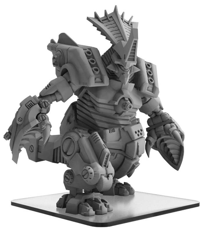 Monsterpocalypse: Gorghadratron – Uber Corp International Monster (metal/resin)