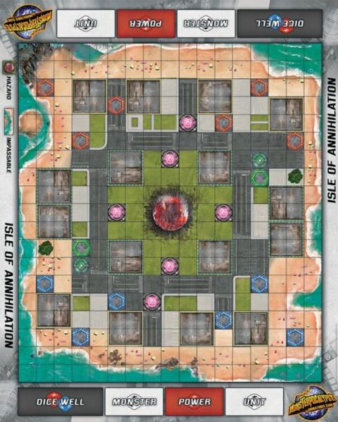 Monsterpocalypse: (Accessory) Isle of Annihilation Fabric Playmat