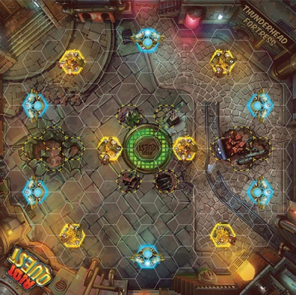 Riot Quest: (Accessory)  Thunderhead Fortress Fabric Playmat