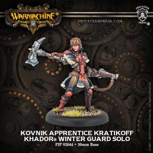 Warmachine: (Khador) Kovnik Apprentice Kratikoff
