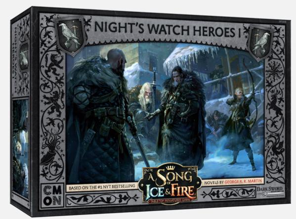 A Song of Ice & Fire: Tabletop Miniatures Game - Nights Watch Heroes Box #1