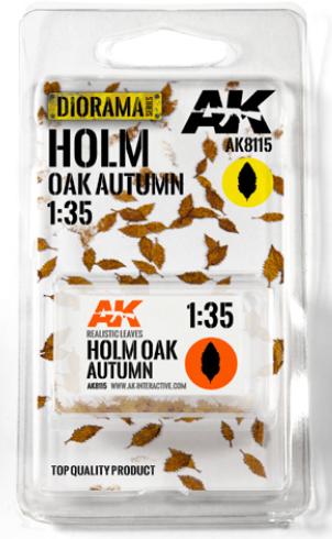 AK-Interactive: Vegetation (Leaves) - Holm Oak Autumn Leaves 1:35