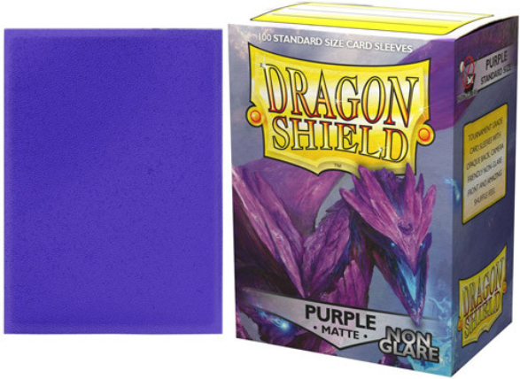 Dragon Shield Art Sleeves: Matte Non-Glare Purple (100 Sleeves)