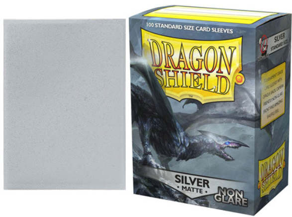 Dragon Shield Art Sleeves: Matte Non-Glare Silver (100 Sleeves)