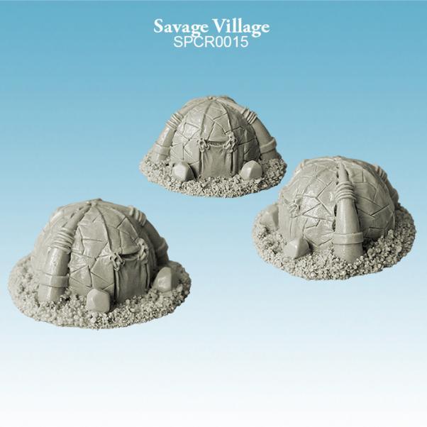 Argatoria 10mm scale - Savage Village (3)