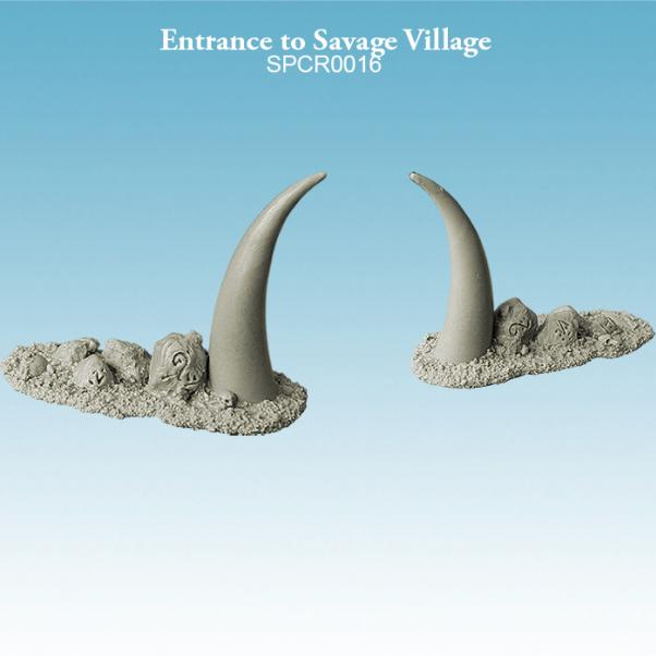 Argatoria 10mm scale - Entrance to Savage Village